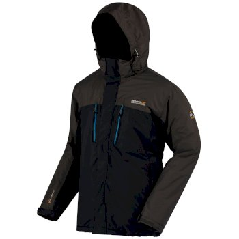 Regatta Fabens Breathable Waterproof Insulated Jacket Navy Seal Grey