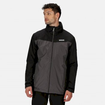 Men's Telmar III Waterproof 3 in 1 Jacket Black Magnet Grey