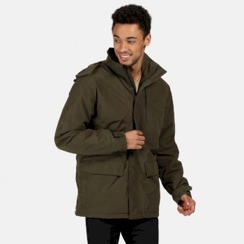 Regatta Men's Penryn Waterproof Insulated Hooded Jacket - Dark Khaki