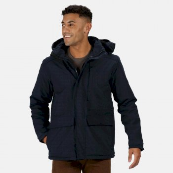 Regatta Men's Penryn Waterproof Insulated Hooded Jacket - Navy