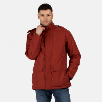 Regatta Men's Penryn Waterproof Insulated Hooded Jacket - Spiced Apple