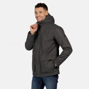 Regatta Men's Sterlings II Waterproof Insulated Hooded Jacket - Seal Grey