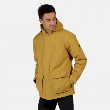 Regatta Men's Sterlings II Waterproof Insulated Hooded Jacket - Bronze Mist