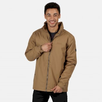 Regatta Men's Hallam Waterproof Insulated Jacket - Dark Camel