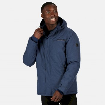 Regatta Men's Volter Shield II Waterproof Insulated Hooded Heated Walking Jacket - Brunswick Blue