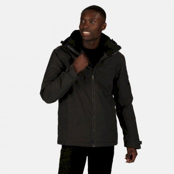 Regatta Men's Highside Waterproof Insulated Hooded Walking Jacket - Ash