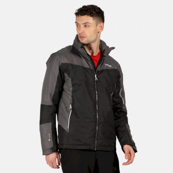Regatta Men's Fincham Waterproof Insulated Hooded Walking Jacket - Black Magnet