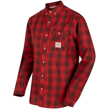Regatta Loman Long Sleeved Checked Shirt - Tuscan Red