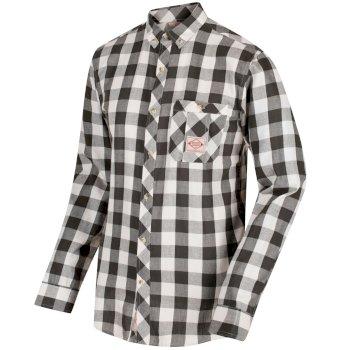 Regatta Loman Long Sleeved Checked Shirt - Dark Khaki