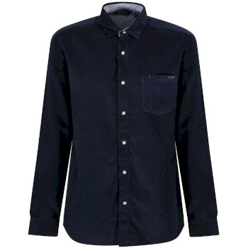 Regatta Benton Long Sleeved Corduroy Shirt Navy