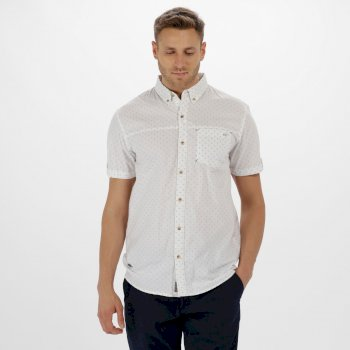 Regatta Damaro Coolweave Cotton Shirt White