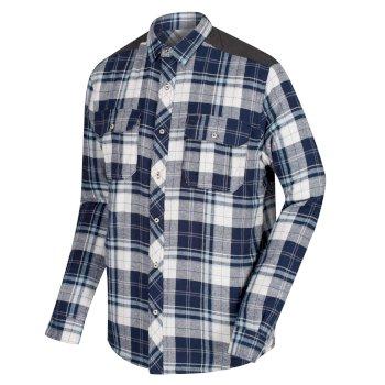 Regatta Tyrion Coolweave Cotton Shirt Navy