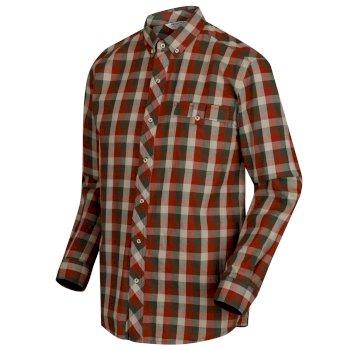 Regatta Lothar Coolweave Cotton Shirt - Dark Khaki