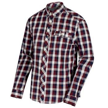 Regatta Lothar Coolweave Cotton Shirt Navy