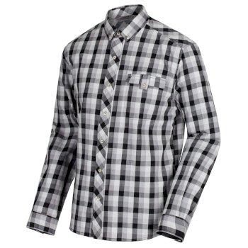 Regatta Lothar Coolweave Cotton Shirt Black