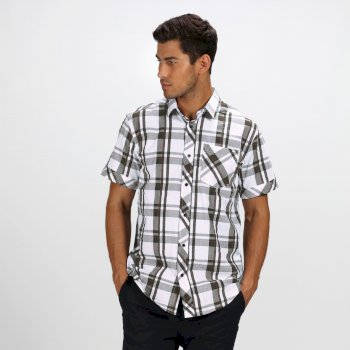 Regatta Men's Deakin III Short Sleeve Checked Shirt Grape Leaf