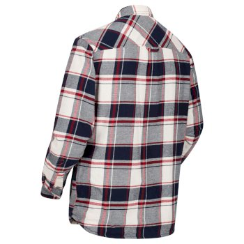 Regatta Men's Tygo Long Sleeved Checked Lined Shirt - Navy