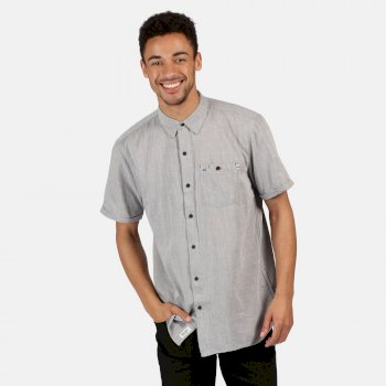 Regatta Men's Damari Short Sleeve Shirt - Seal Grey