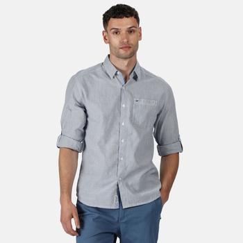 Banning Langarmhemd für Herren Blau