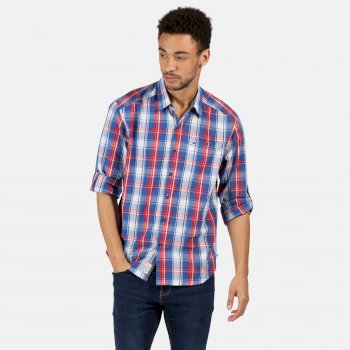 Regatta Men's Banning Long Sleeved Shirt - Nautical Blue
