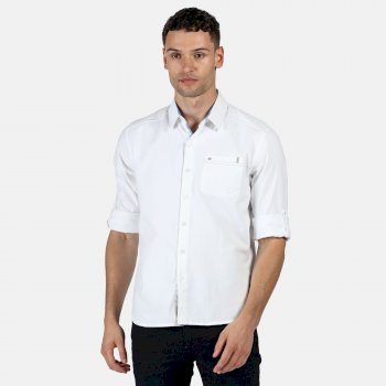 Regatta Men's Banning Long Sleeved Shirt - White Oxford