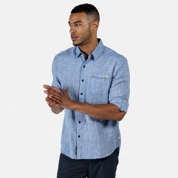 Regatta Men's Banning Long Sleeved Shirt - Chambray
