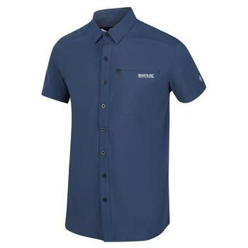 Kioga II Kurzarmhemd für Herren Blau