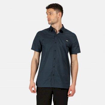 Honshu V Kurzarmhemd für Herren Blau