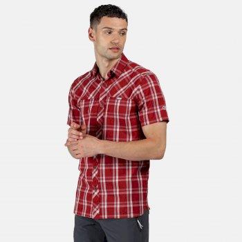 Honshu V Kurzarmhemd für Herren Rot