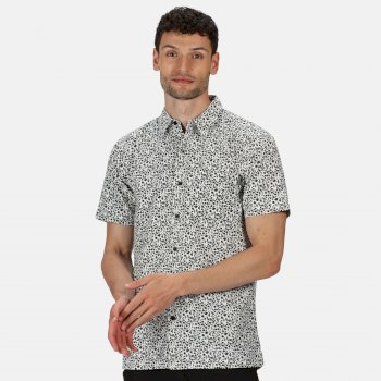 Regatta Men's Mindano V Short Sleeved Checked Shirt - White Ash Floral