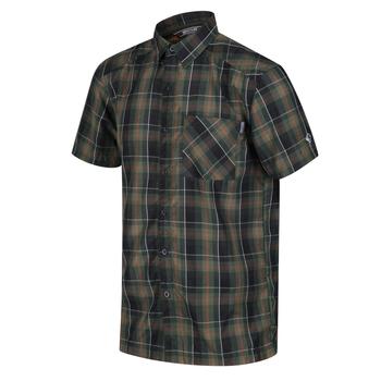 Kalambo V kariertes Kurzarmhemd für Herren Grün