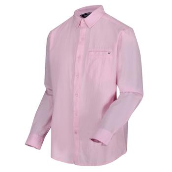 Bard Coolweave-Hemd mit langen Ärmeln für Herren Rosa