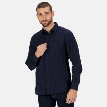 Bard Coolweave-Hemd mit langen Ärmeln für Herren Blau