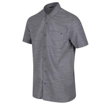 Mahlon Coolweave-Hemd mit langen Ärmeln für Herren Grau