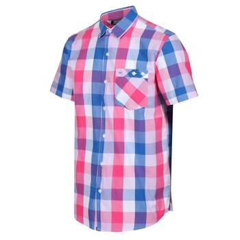 Ramiel kariertes Kurzarmhemd für Herren Rosa