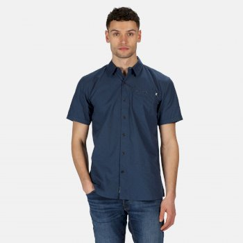 Men's Dalziel Short Sleeved Shirt Blau