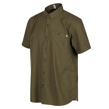 Dalziel Kurzarmhemd für Herren Grün