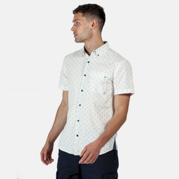 Men's Dalziel Short Sleeved Shirt Weiß