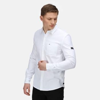 Darien Langarmshirt für Herren Weiß