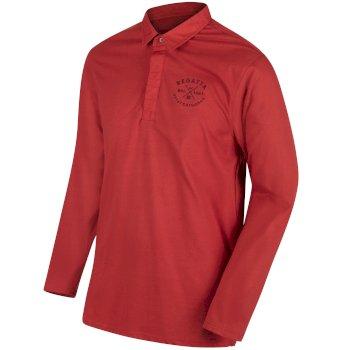 Regatta Regatta Pierce Rugby Style Shirt Long Sleeved Burnt Tikka