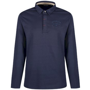 Regatta Pierce Rugby Style Shirt Long Sleeved Top - Navy