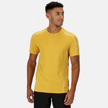 Virda II leichtes T-Shirt für Herren Gelb