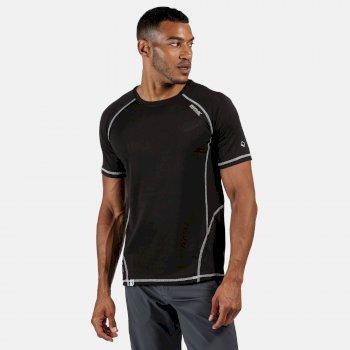 Virda II leichtes T-Shirt für Herren Schwarz