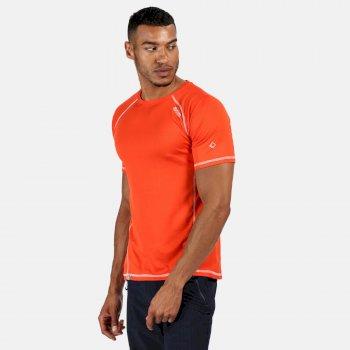 Virda II leichtes T-Shirt für Herren Orange