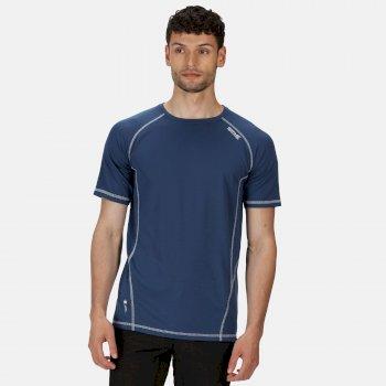 Regatta Men's Virda II Active T-Shirt - Dark Denim