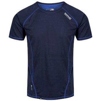 Virda II leichtes T-Shirt für Herren navy-hellblau