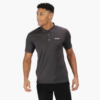 Men's Maverik IV Quick Dry Pique Polo Shirt Seal Grey