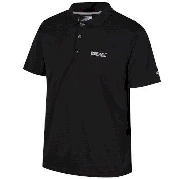 Men's Maverik IV Quick Dry Pique Polo Shirt Black