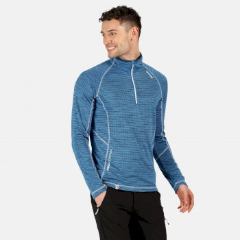Regatta Men's Yonder Half Zip Long Sleeve Top - Imperial Blue