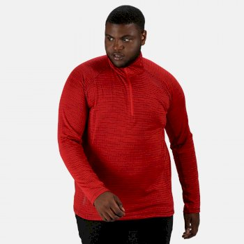 Regatta Men's Yonder Half Zip Long Sleeve Top - True Red